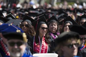 Photograph of students graduation from CSU Channel Islands.